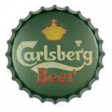 decoração da parede do sinal do metal do tampão de frasco da cerveja do vintage de 40cm