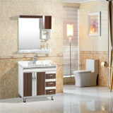 PVC Bathroom Cabinet, Ceramic Basin, 5mm Silver Mirror