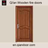 Puerta cortafuego de madera de la chapa de Sapele