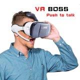 Vidrios todos de la protuberancia 3D de Vr del precio de fábrica en un rectángulo de Vr con el auricular y el micrófono