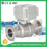 Valvola a sfera sanitaria elettrica di controllo di flusso di 2 modi con CE (T25-S2-C-Q)