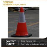 cone de borracha industrial macio reflexivo da segurança de tráfego de 70cm