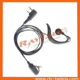 Neuestes Soft Earhook Earpiece mit Small Lapel Postverwaltung für Zwei-Methode Radios