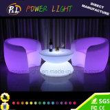 Móveis ao ar livre LED Glow Plastic Bar Sofa