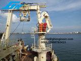 крана заграждения костяшки 2.5t22m палубный судовой кран корабля гидровлического телескопичного морской