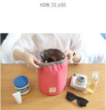 De unieke Klassieke Kosmetische Zakken van de Reis Drawstring van het Ontwerp Waterdichte Cilindrische Multifunctionele