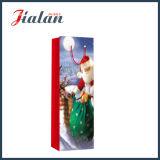 4c de afgedrukte het Winkelen van de Fles van Kerstman Zak van het Document van de Gift van de Hand