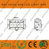 40W 크리 말 Single Row Work Light Bar, Offroad Super Bright (NSL-4004C)