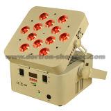 Luz sem fio 12X8w RGBW 4 in-1 da bateria do diodo emissor de luz
