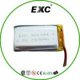 Batería 3.7V 700mAh 902.044 recargable de ion de polímero de litio de 3,7 V GPS