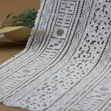 Tessuti lavorati a maglia merletto del cavo del cotone della guipure per gli indumenti