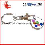 Trousseau de clés matériel de jeton de caddie en métal de vente directe d'usine