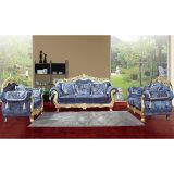 Klassisches ledernes Sofa für Wohnzimmer-Möbel stellte ein (D929L)