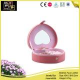 Коробка ювелирных изделий PU розовой формы сердца пакета магазина кожаный