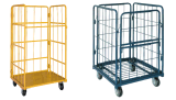 Steel Shopping Trolley Cart Powder Coating Surface PU Wheel