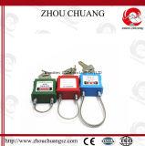Стальные Padlocks безопасности кабельного замка с ключевой составляя схему системой