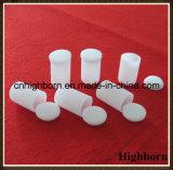Crisoles cilíndricos de fusión opacos del cuarzo de la silicona con la cubierta