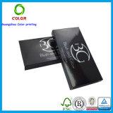 Boîte noire de cadeau de papier fait sur commande de ventes en gros