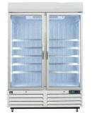 슈퍼마켓 양쪽으로 여닫는 문 강직한 음료 냉장고