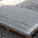 Surface blanche de solide de Corian de perle en pierre de résine