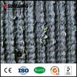 Precios bajos de la alfombra artificial sintetizada verde natural decorativa de la hierba