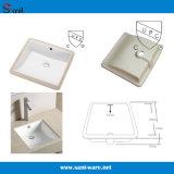 Bassin en céramique carré populaire de salle de bains de Cupc (SN039)