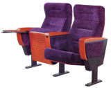 Asiento de la silla del auditorio de los muebles de escuela con la pista de escritura de madera
