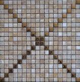 Mosaico de pedra de mármore natural do projeto especial para a telha da parede do edifício de casa (FYSM001)