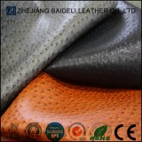 Cuir synthétique de sac de l'autruche PVC/PU avec bonne sensation de main