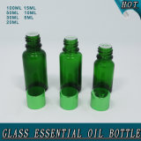 Bottiglie di olio essenziale di vetro verde con il riduttore dell'orifizio