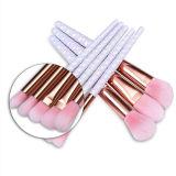 brosse de lecture de produits de beauté de la perle 8PCS avec le cheveu de rose de poudre