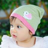 Pequeño sombrero del bebé del algodón de punto del pájaro 1303