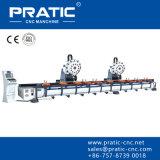 Centro-Pza fazendo à máquina de trituração do alumínio do perfil do CNC