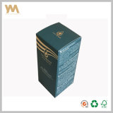 Boîte d'emballage en parfum en carton décoratif en argent personnalisé
