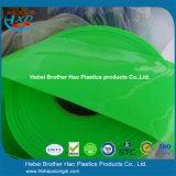 Het heldere Gordijn van de Stroken van de Deur van pvc van de Barrière van het Gezicht Ondoorzichtige Groene Vinyl