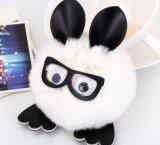 かわいい演劇ガラスのウサギのプラシ天動物のおもちゃ