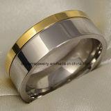 Eindeutiger Entwurfs-Edelstahl-Titanfinger-Ring (TR1827)