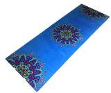De douane Afgedrukte Vouwbare Wasbare Machine van het Natuurlijke Rubber van Eco van de Mat van de Yoga Microfiber