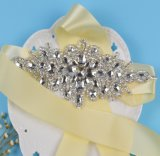 Флористическая искрясь тесемка Rhinestone кристаллический Wedding Bridal пояс