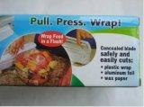 Abrigo del alimento dispensado Wraptastic Plástico Transparente cortador