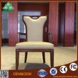 高のホテルの家具の固体カシ木フレームの背部贅沢で黒い革Tiffanyの椅子
