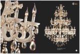ヒスイの贅沢な金および白い水晶シャンデリアライト