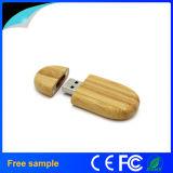 El regalo promocional graba el palillo de madera del USB de la insignia
