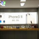 Het Lichte Vakje van de Vertoning van de Reclame van de mobilofoon met het Teken van het Aluminium van de Affiche van de Stof