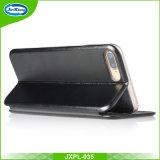 Delgado ultra fino colorido 360 TPU PU caja de cuero del teléfono móvil para el iPhone 5 5s Se 6 7 ranura para tarjeta Kickstand