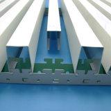 Soffitto rotondo di alluminio acustico del tubo sospeso ambiente verde