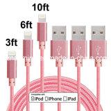 Кабель 8 ткани кабеля Pin данным по USB внезапной просто Nylon