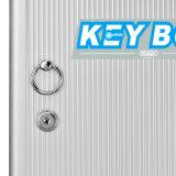 Caixa pequena portátil do gabinete de armazenamento de 32 Tag chaves com fechamento