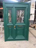 新しいデザインアルミニウムガラス振動ドア