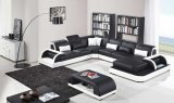 Sofà di cuoio sezionale di svago della mobilia del salone